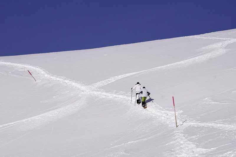 test raquette neige